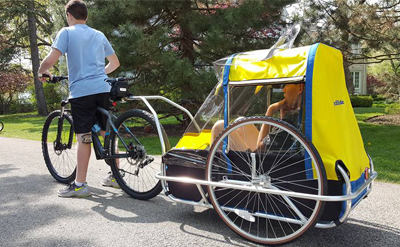 Adult bike trailer